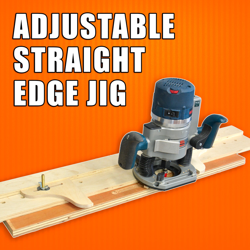 Wood Router Adjustable Straight Edge Jig