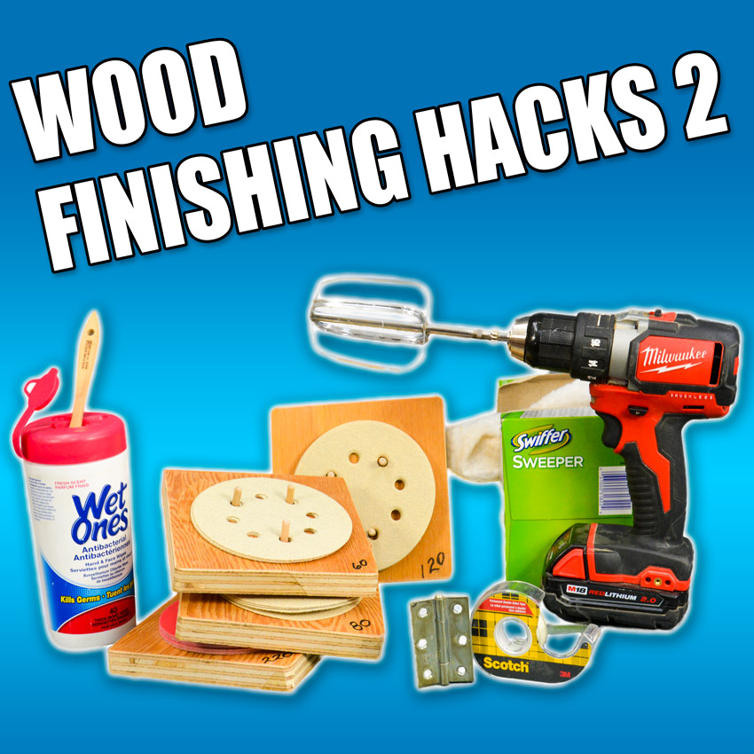 DIY wood finishing hacks!