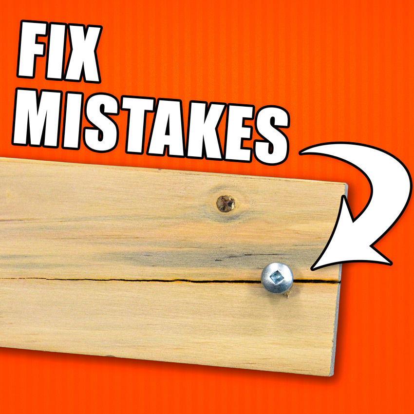 How to Fix Woodworking Mistakes