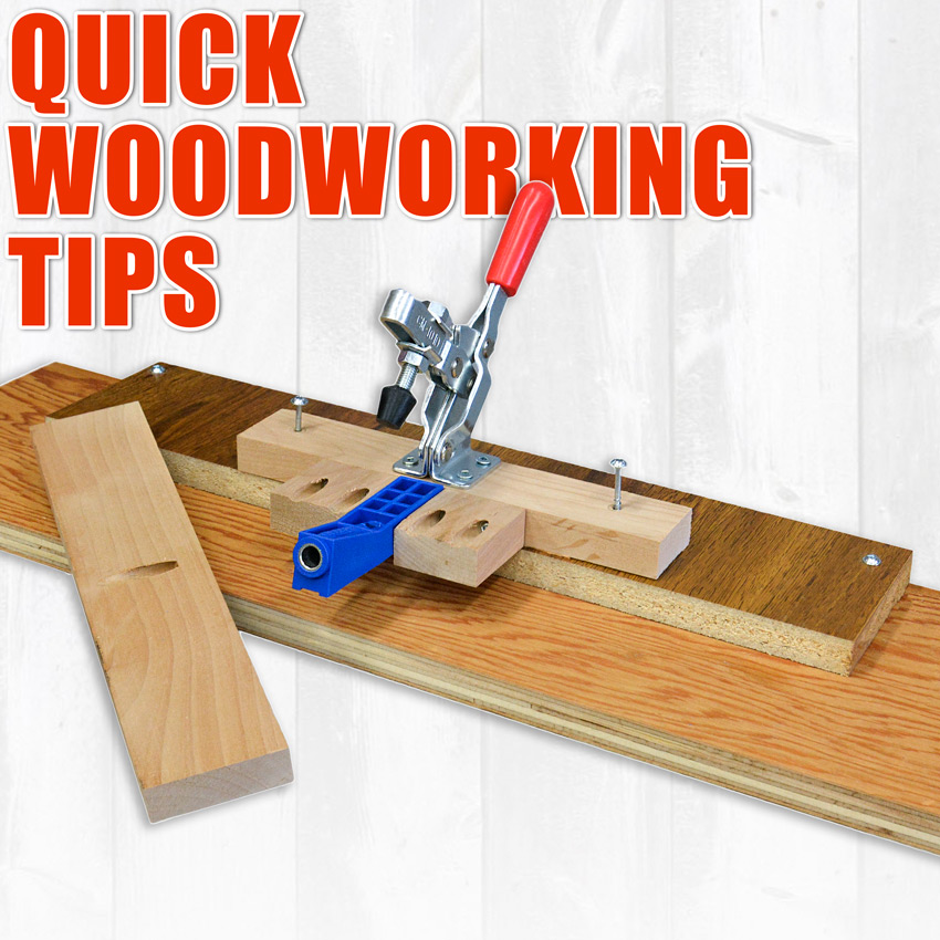 WoodWorkWeb's Quick Woodworking Tips and Tricks