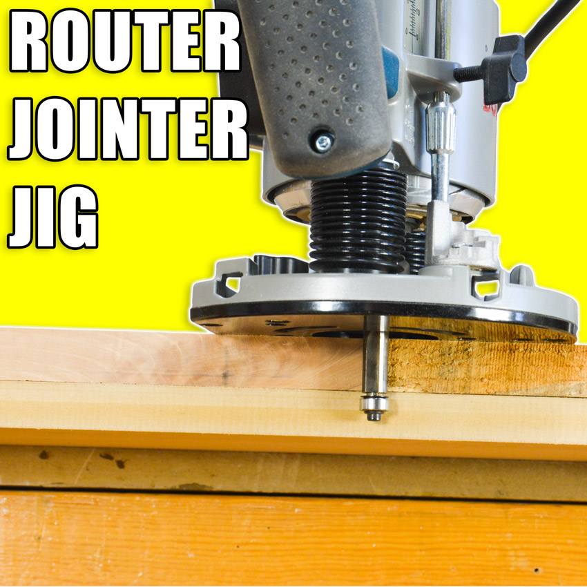 Router jointer jig