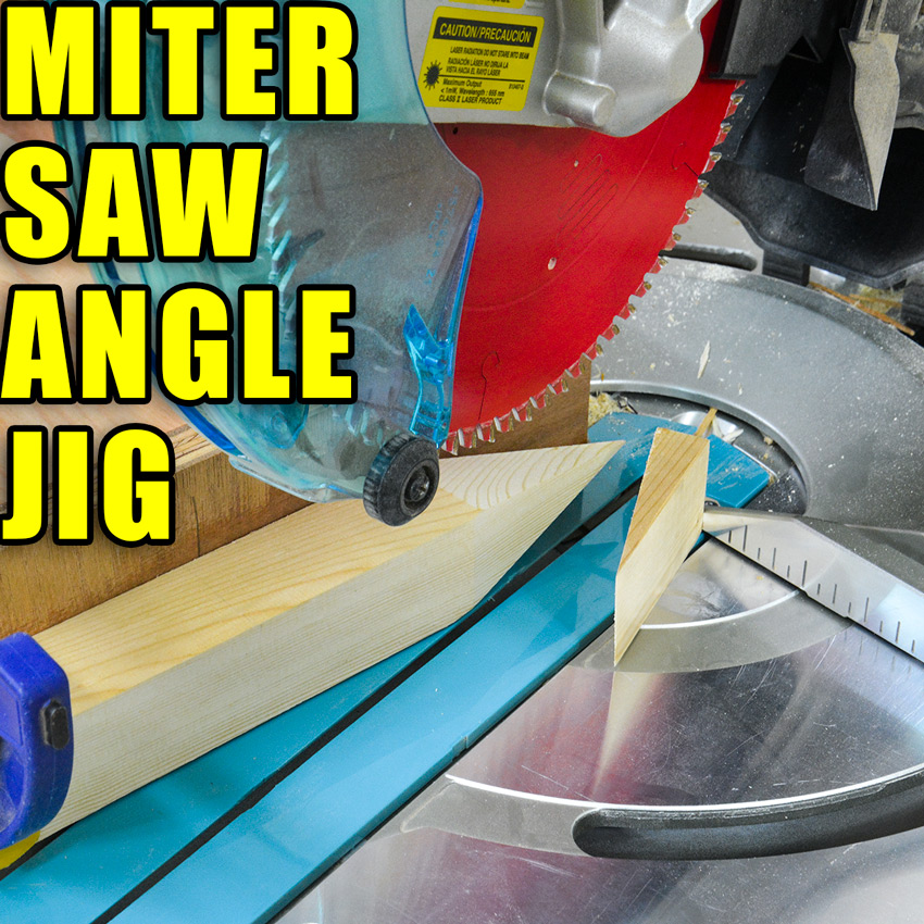 Miter Saw Angle Jig / Making Wood Stakes