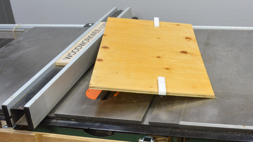 Plywood Table Saw Fence Alignment Jig Bottom