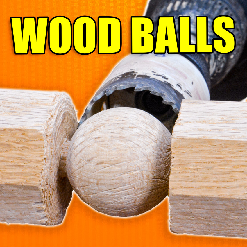 How to make wood balls