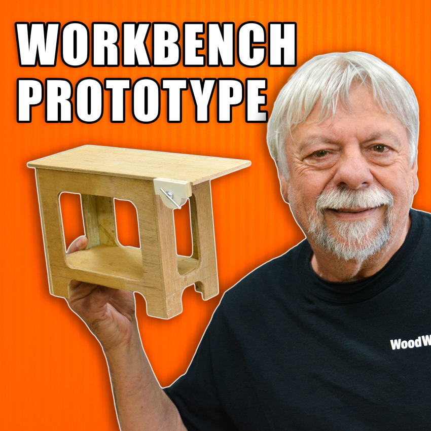 How to Build a Woodworking Workbench: Scale Model Prototype