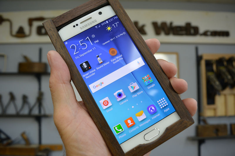 galaxy 6 wooden case