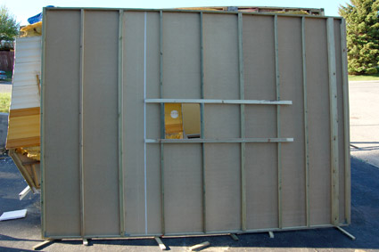 Travel trailer roof panel