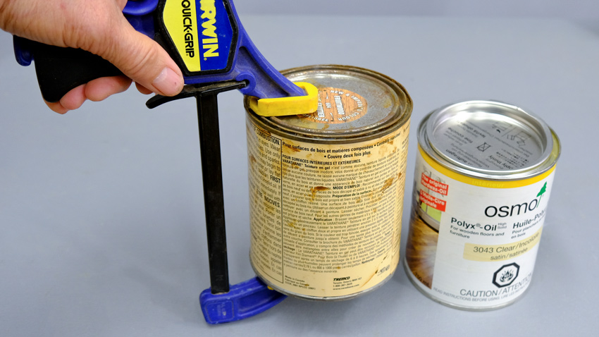 Clamps for paint lids