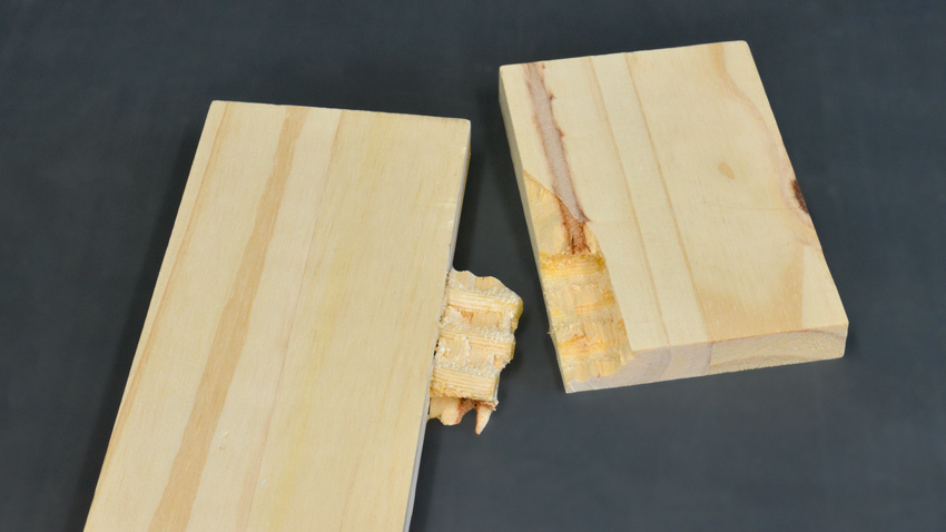 Pine wood joinery